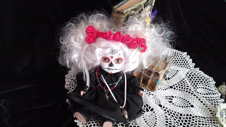Купить Необычная интерьерная куколка - черный, готика, мёртвая невеста, Страшные игрушки, страшные куклы