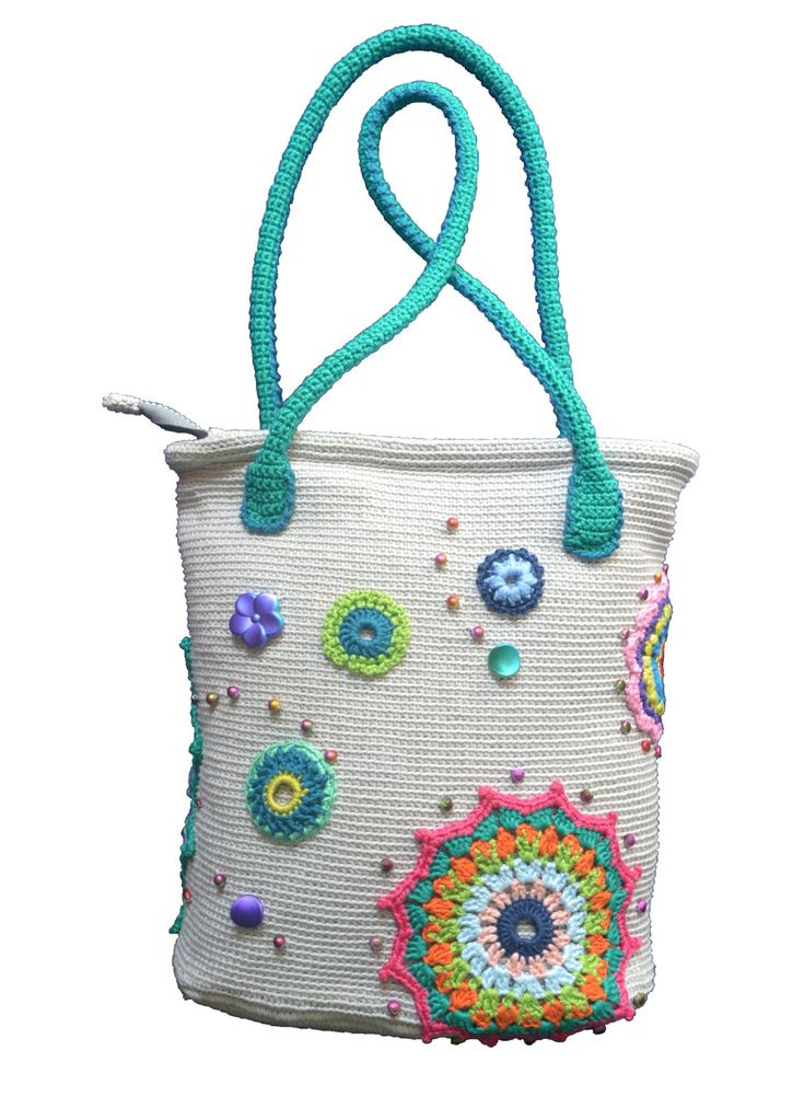 Summer crochet bag. Mandala women's bag. Tote bag. by Veselunka