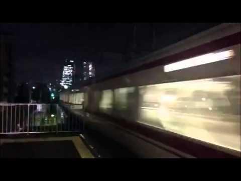 名鉄栄生駅でタイムラプス