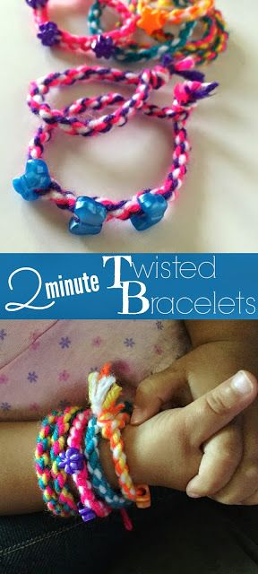 how to make easy bracelets out of wool