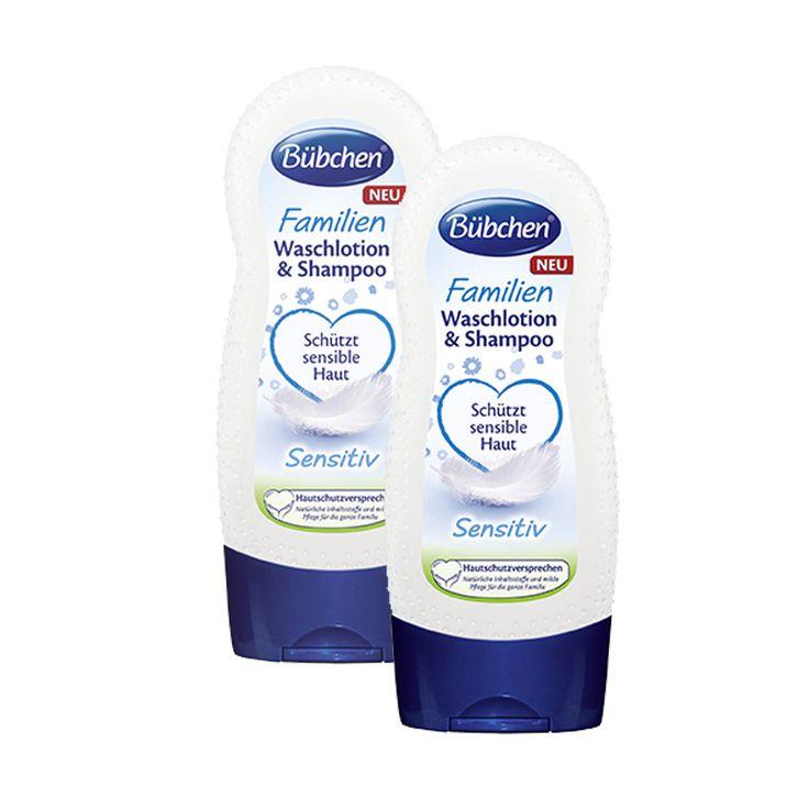 BÜBCHEN Familien Waschlotion & Shampoo Sensitive 2x230ml