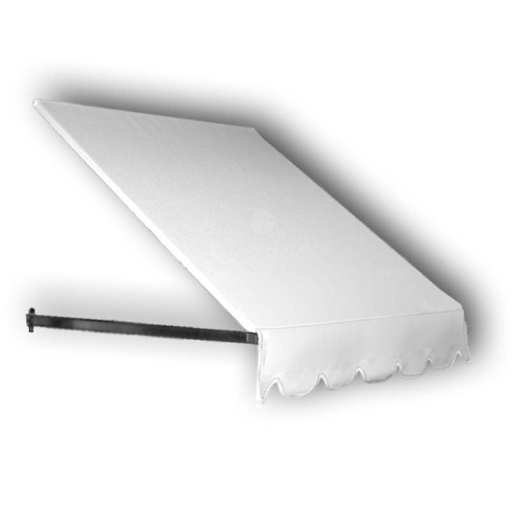 Awntech 100.5-in Wide x 36-in Projection White Solid Open ...