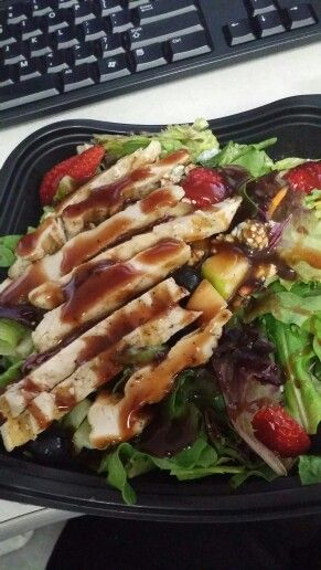 Chick fa la grilled chicken salad.