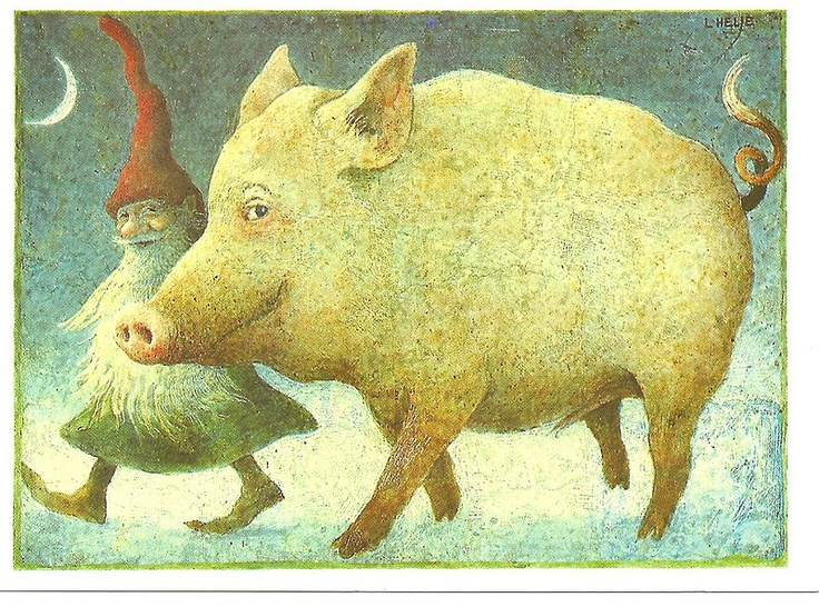 Lennart Helje -- the rescue mission of the tomte and his friend who refuses to be a ham. (I love this, as now in my life -- I am a Vegan NorVegian. Hard to give up my favorites)