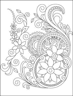 Amazing Swirls Coloring Book for