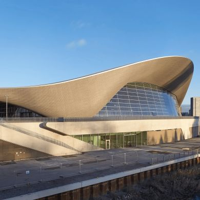London Aquatics Centre: Location: Westminster, London, UK Area: 15950.0 sqmProject Year: 2011  Mimicking the motion of the fluid water where the dynamic blends to the surrounding environment.
