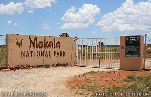 Entrance gate @ Mokala National Park in South Africa.