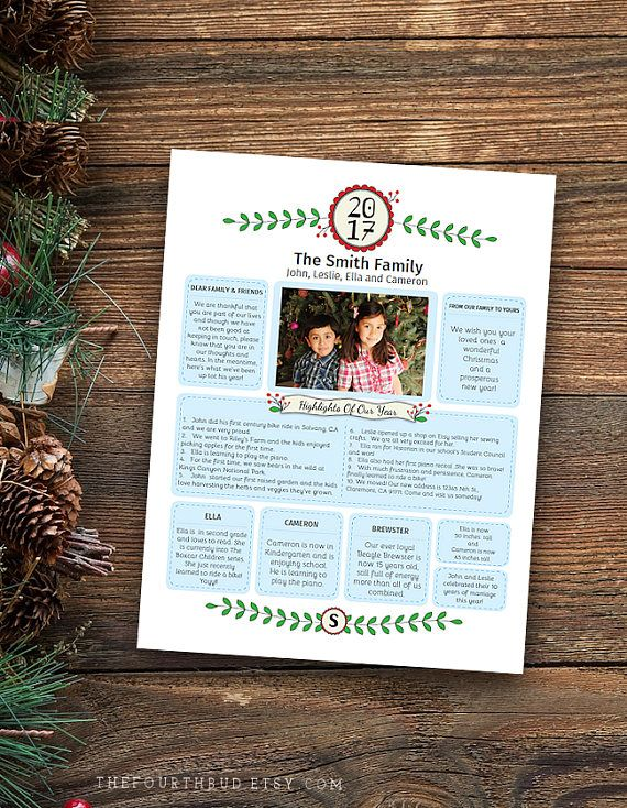 Year in review christmas newsletter template in pdf for print year in review christmas newsletter template in pdf for print swag with 1 photo entry adobe reader required templates pinterest christmas spiritdancerdesigns Choice Image