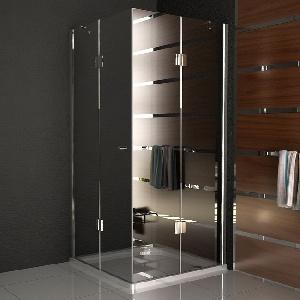 Quadri Clear 90x90  Echtglas Eck Dusche Duschkabine Duschabtrennung aus Sicherheitsglas (ESG)