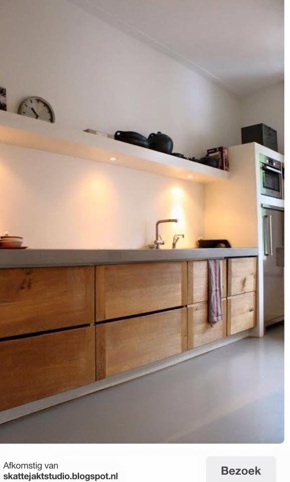 Keuken hout + beton