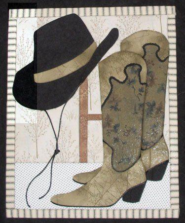 Cowboy Hat  Boots Artsi2 Quilt Board