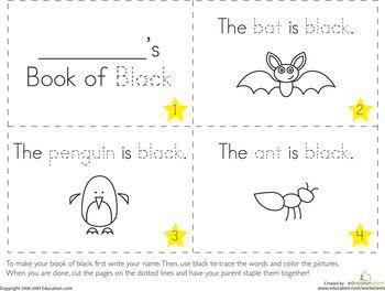 The Color Black Preschool worksheets, Preschool and