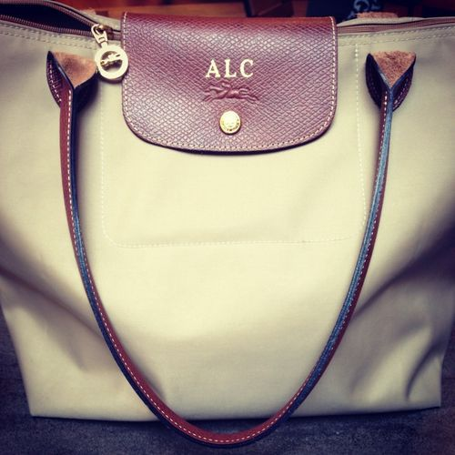 Monogrammed bag... I don't actually like this... but those are my initials so I felt like repinning it hahah