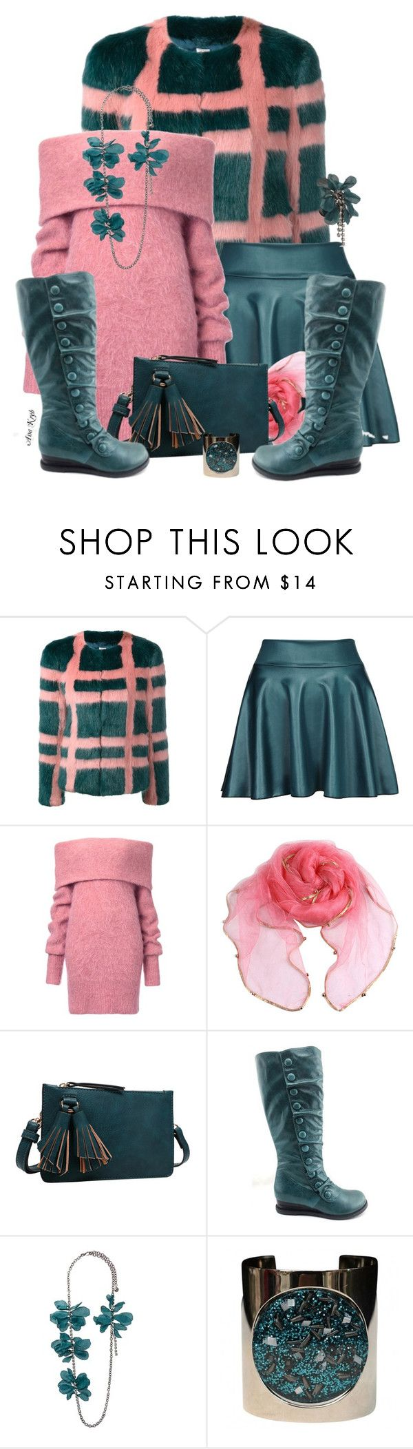 """""""Pan symphony"""" by ana-kreb ❤ liked on Polyvore featuring Shrimps, Melie Bianco, Miz Mooz and Lanvin"""