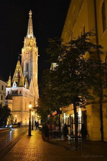 Budapest The Mathias Church at  night, Hungary                              …