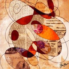 NOTE:  Windows<3 Collage mixed media art by Gina startup