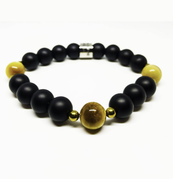 The Motivation, Healing and Grounding Tigers Eye, Onyx and Hematite Bracelet