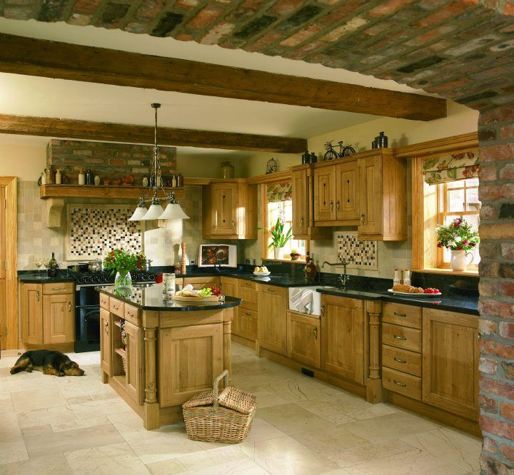 #oak #solid #kitchen #design #decor #style #furniture