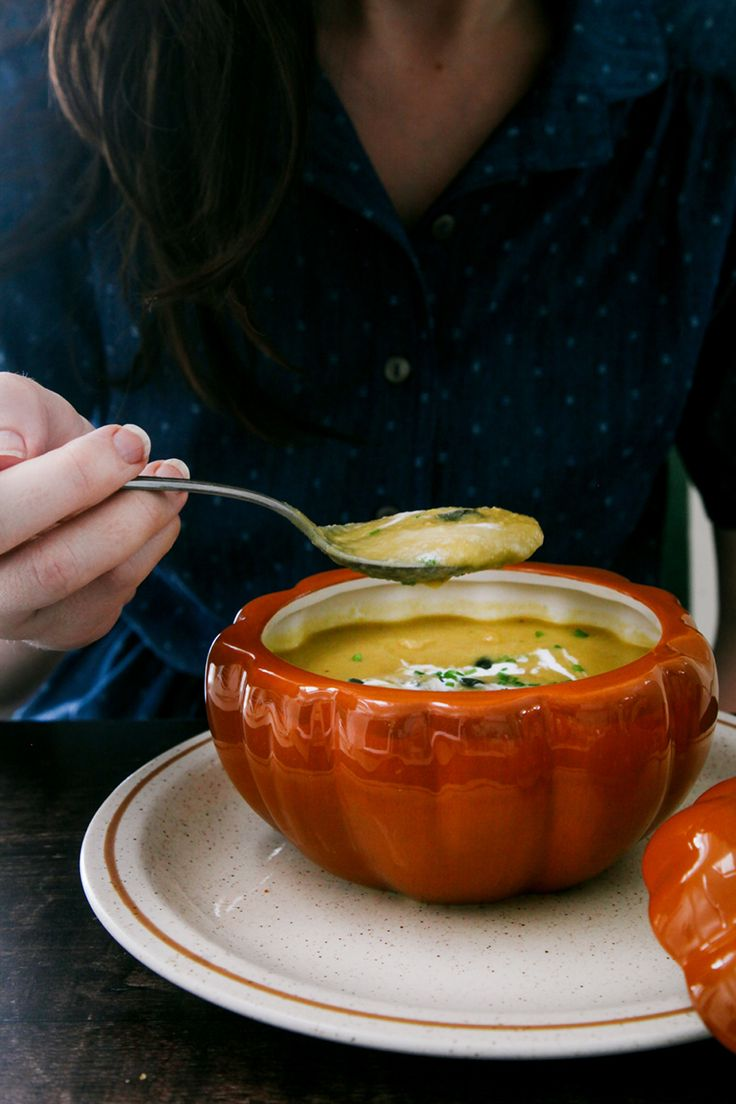 Autumn recipes don't get more authentic than this pumpkin, apple & ginger soup...