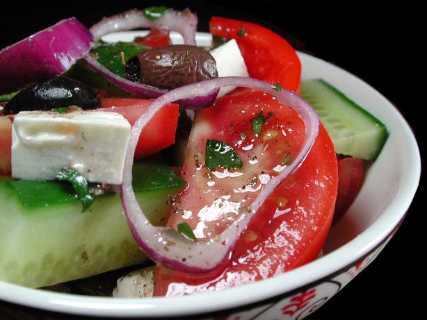 I tried to recreate the best Greek Salad Ive ever had.Serve with crusty bread to soak up the wonderful juice at the bottom of the salad bowls. If available please use fresh herbs.
