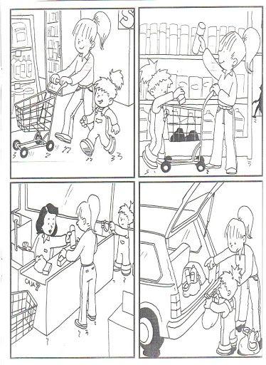 Beim Einkaufen, #bildergeschichte, #sprechen lernen