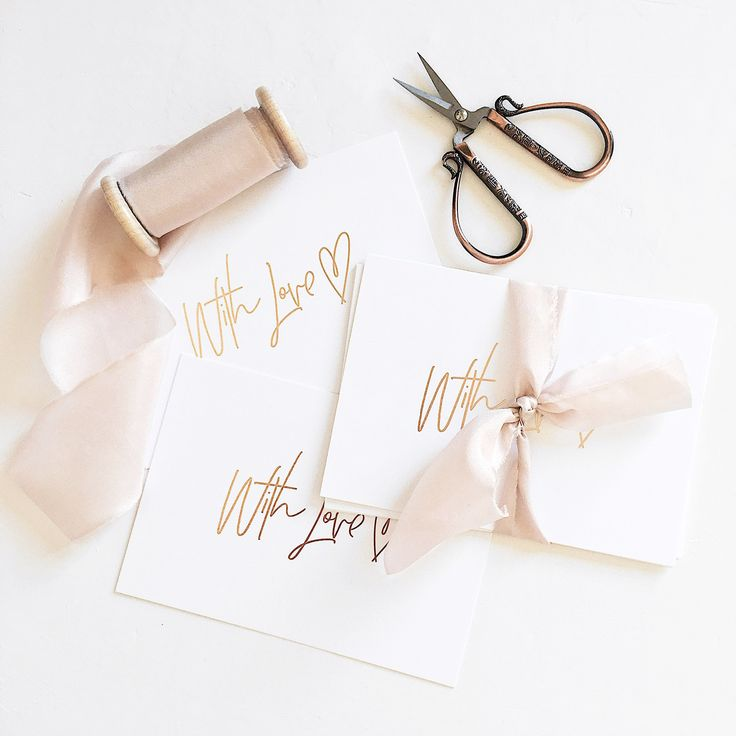 Foiled cards | @whiteinkdesignco
