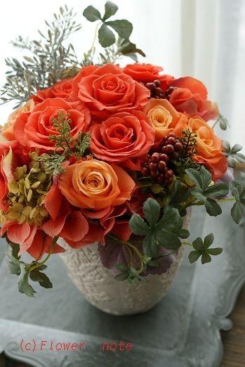『ビビットカラーは好きですか?』 http://ameblo.jp/flower-note/entry-11294852385.html