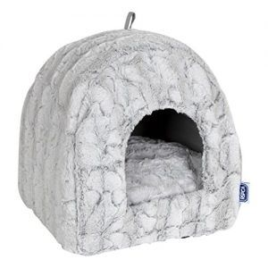 Rspca Luxury Plush Igloo Cat Bed Silver