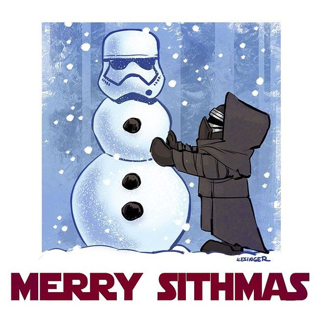 """""""Star Wars"""" Characters Brilliantly Reimagined As """"Calvin And Hobbes"""""""