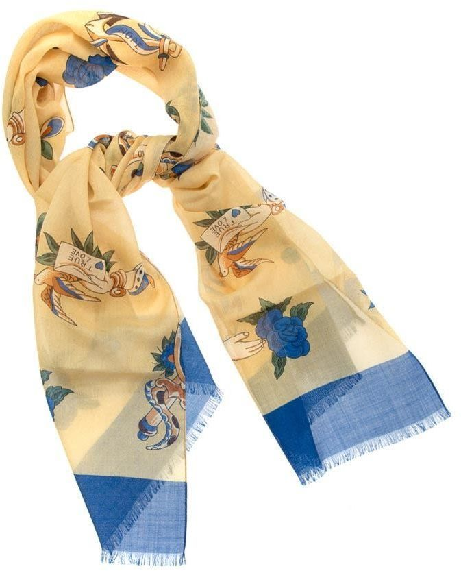 Holliday & Brown Scarf Silk And Wool
