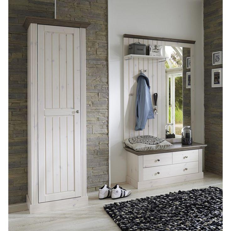 Garderoben Set Monaco Landhaus White Wash - Stone - Steens Furniture - Möbel günstig kaufen