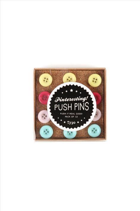 push pins typo