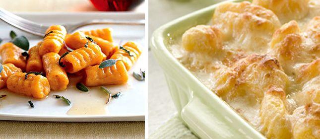 Ñoquis gratinados de batata - Cocina y Vino