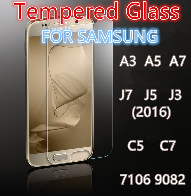 Tempered Glass For Samsung Glass Film Galaxy A5 A7 J7 J5 J3 2016 mobile phone smartphone Screen protect film discount+clean kit
