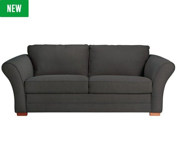 Buy Heart of House Thornton 3 Seater Fabric Sofa Bed - Charcoal at Argos.co.uk - Your Online Shop for Sofa beds, chairbeds and futons, Living room furniture, Home and garden.