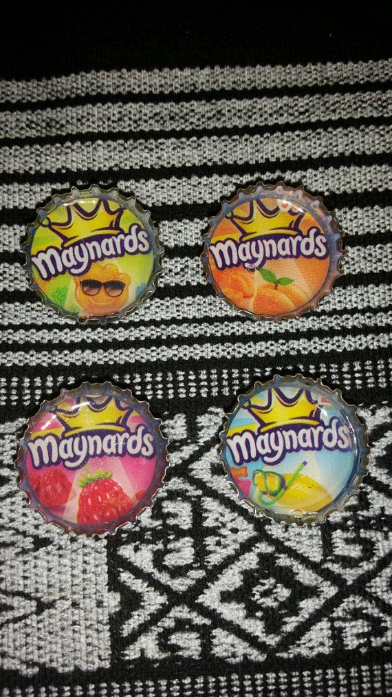 Maynards Candy Bottle Cap Magnets. Swedish Fish. Sour Patch Kids. Swedish Berries. Fuzzy Peaches. Joy's Craft Shop  Check out this item in my Etsy shop https://www.etsy.com/ca/listing/217912237/maynards-candy-bottle-cap-magnets