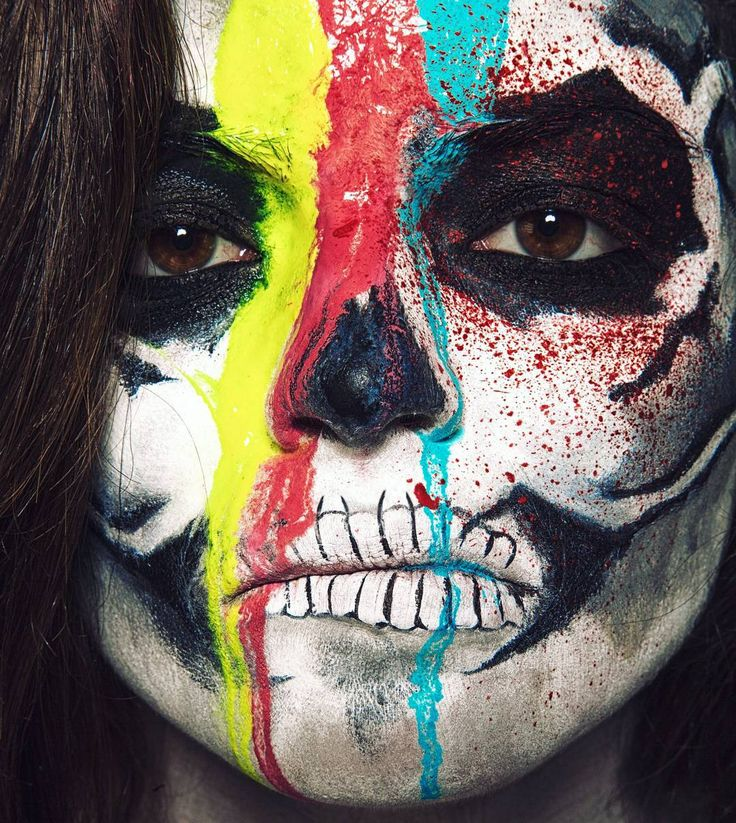 """Ну, как? Страшно???🎃  #makeup #mua @nastyavalitskaya   Фотограф @ph_lisov   Фотография из серии """"Хэллоуин 2015"""" Еще больше фото, видео и вдохновения ищите на моем сайте в специальном разделе портфолио 😊"""