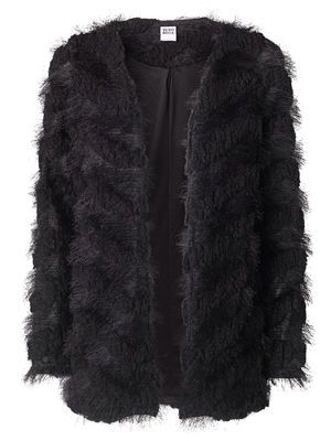 WP - IRIS FURRY CARDIGAN, Black, main
