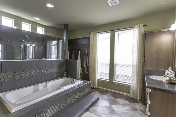 Love this luxurious bath in the St Andrews model home - 3 bed, 2 bath, 1,856 sf - by Palm Harbor available from Homes Direct Modular Homes - Redmond Oregon