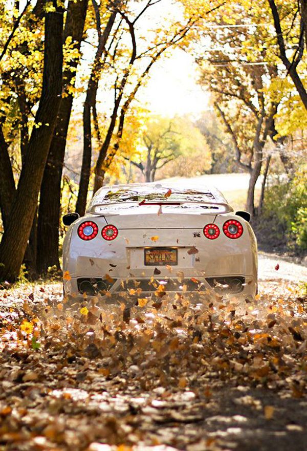 GT-R in the fall