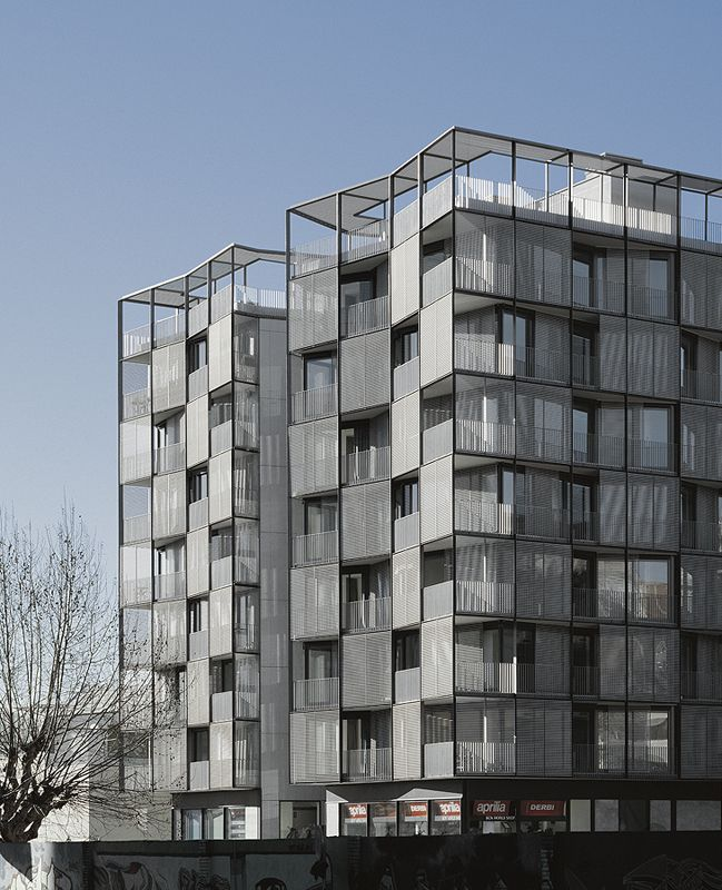Edificio en plaza lesseps by oab ferrater asociados for Barcelone architecture contemporaine