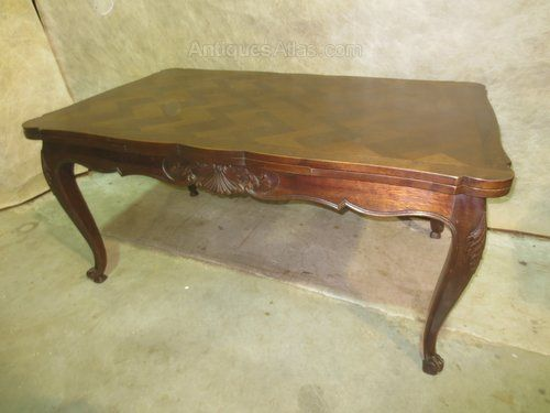 French Oak Parquet Draw Leaf Table Antiques Atlas Dining Table