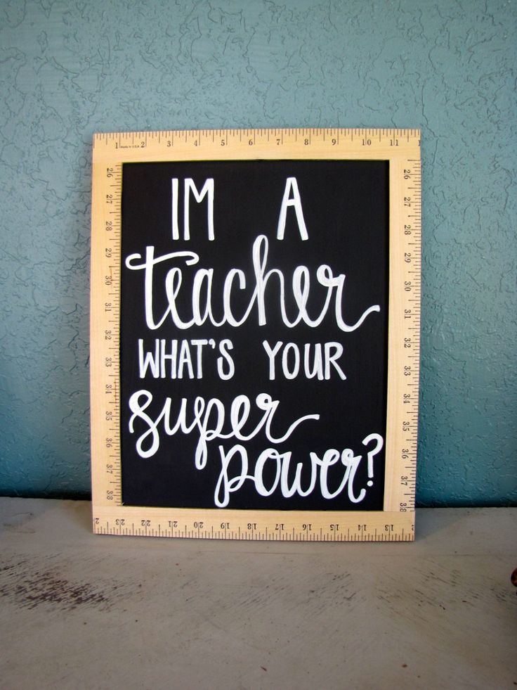 Im a Teacher What's Your Superpower, Chalkboard Sign, Teacher Sign, Teacher Gift, Teacher Present, Teacher Decor, Classroom Sign, by…