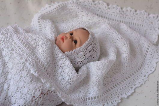 Плед для новорожденного, плед вязанный, плед детский купить.Ярмарка Мастеров. ручная работа купить.одеяло на выписку.для новорожденных. для новорожденного.