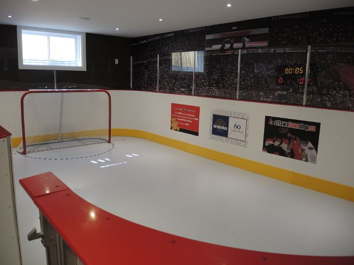 SmartRink is proud to be supplier of the 2015 CHEO Dream Home. A 25-by-15-foot synthetic ice rink with NHL style boards and glass.