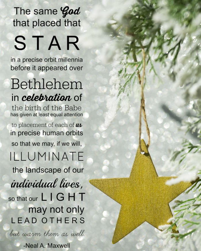 Lds Christmas Quotes.Christmas Star Quote Merry Christmas And Happy New Year 2018