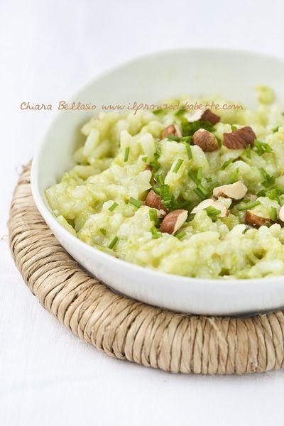 risotto alla crema di asparagi e nocciole                     #recipe…