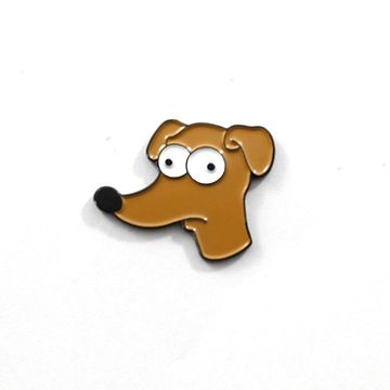 "The Simpsons' loyal pet dog. Quite possibly the longest living dog on television. Approx. 1"" Wide, Soft Enamel"