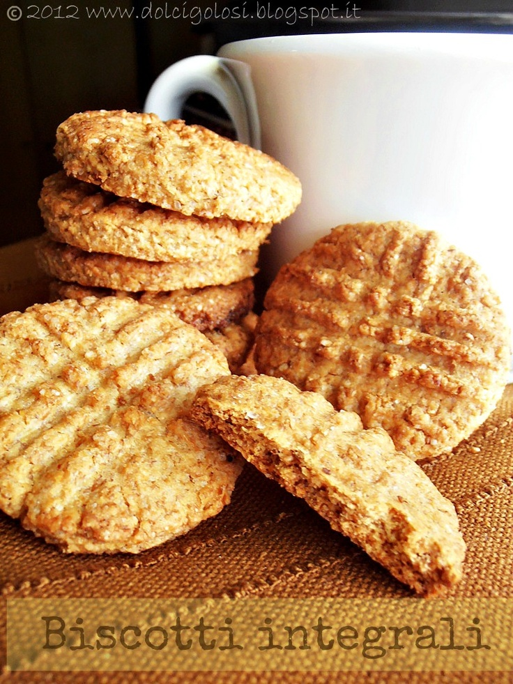 Wholemeal biscuits (Biscotti integrali)
