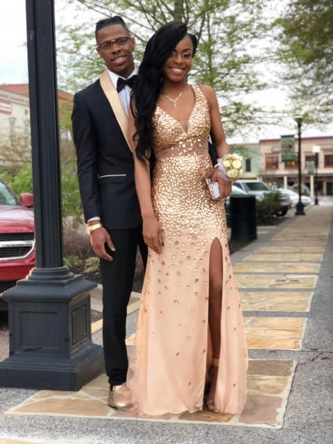 Sheath Column V-neck Sequin Court Train Sleeveless Jersey Dresses - Prom  Dresses - Hebeos Online a054dfcee